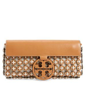 NEW TORY BURCH MILLER LEATHER CHAINMAIL CLUTCH!!